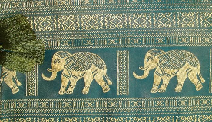 Thai Silk Tablecloth Elephant Design The Elephant Emporium