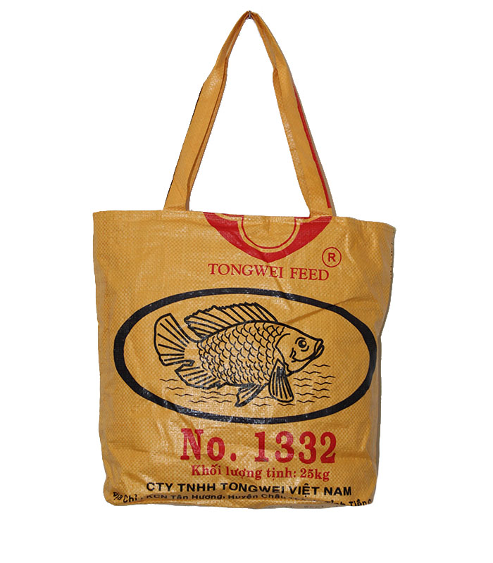 122008f5725c Recycled Budget Tote Bag made from Fish Feed Bags – The Elephant ...